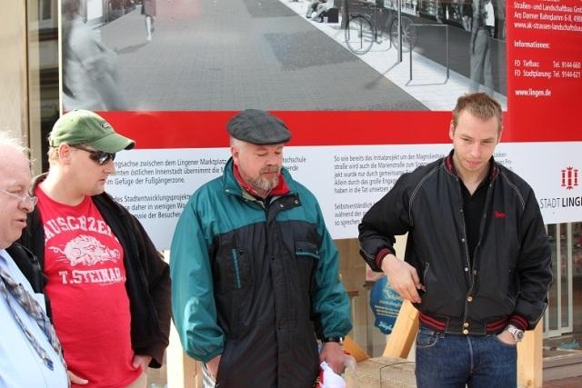 v.l.n.r.: Reiner Heinen, Michael Himmel, Unbekannt und Tobias Richter