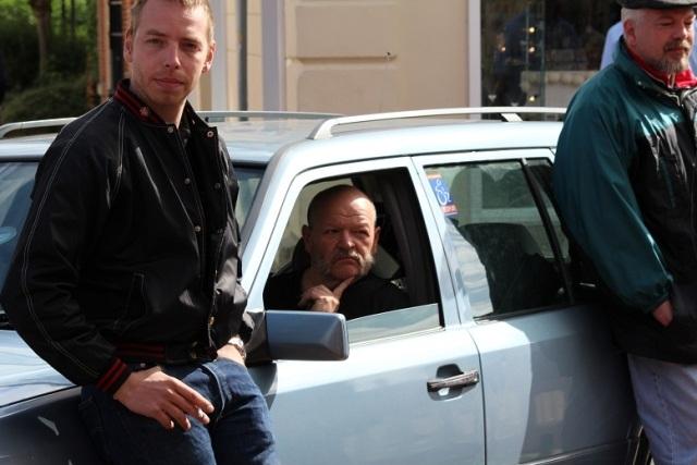 Im Auto: Dirk Heimsoth