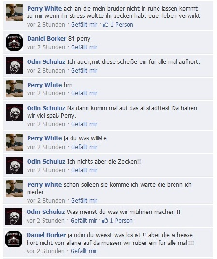 Facebook Screenshot vom 09.08.2011